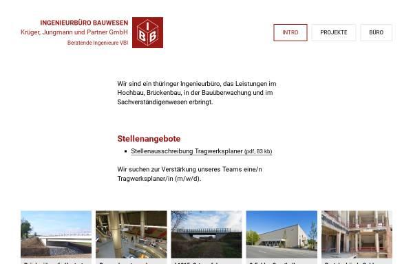 Vorschau von www.ibb-weimar.de, IBB Ingenieurbüro Bauwesen Krüger, Jungmann & Partner GmbH