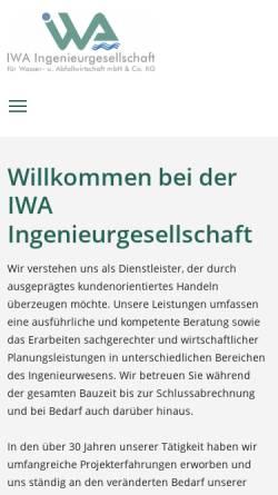 Vorschau der mobilen Webseite www.iwa-minden.de, IWA Ingenieurgesellschaft für Wasser- und Abfallwirtschaft mbH & Co. KG