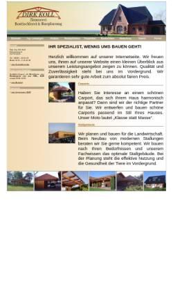 Vorschau der mobilen Webseite www.bauplanung-koll.de, Koll, Dirk