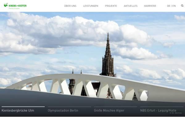 Vorschau von www.kuk.de, Krebs und Kiefer, Beratende Ingenieure für das Bauwesen, GmbH