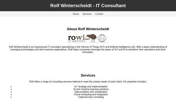 Vorschau von www.rowi.net, rowi.net IT-Services