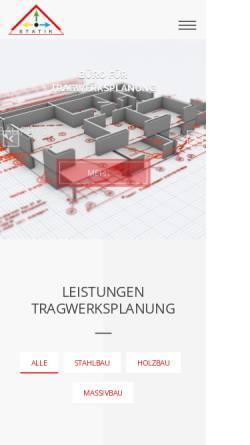 Vorschau der mobilen Webseite www.statik-hochbau.de, Lindenborn, Martin