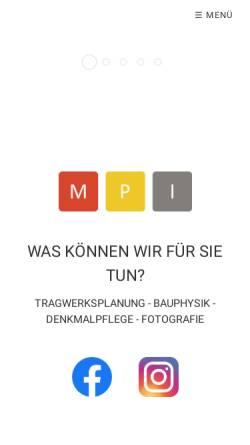 Vorschau der mobilen Webseite www.mpingenieure.de, Möller & Penning GmbH