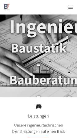 Vorschau der mobilen Webseite www.b7-ing.de, Strasen, Klaus-Peter; Thiel, Peter