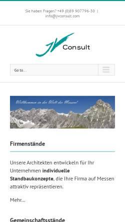 Vorschau der mobilen Webseite www.jvconsult.com, JVConsult