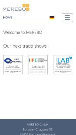 Vorschau der mobilen Webseite www.merebo.de, Merebo Messe Marketing