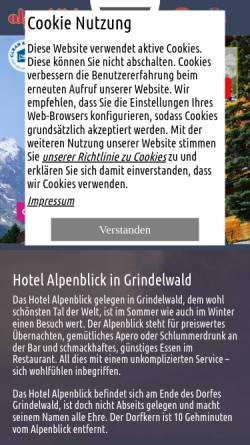 Vorschau der mobilen Webseite www.alpenblick.info, Hotel Alpenblick, Grindelwald