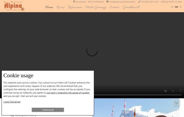 Hotel Restaurant Alpina Grindelwald Gastgewerbe Grindelwald - Hotel alpina grindelwald