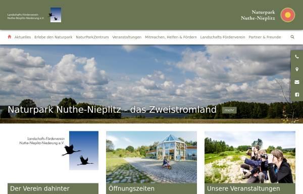 Vorschau von www.naturpark-nuthe-nieplitz.de, Naturpark Nuthe-Nieplitz