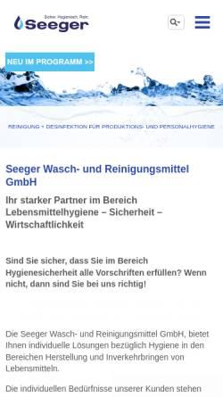 Vorschau der mobilen Webseite www.packzu.de, Seeger GmbH