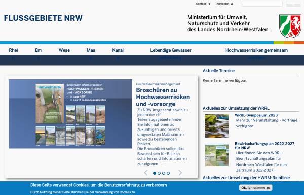 Vorschau von www.weser.nrw.de, Umsetzung der Wasserrahmenrichtlinie an der Weser in NRW