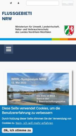 Vorschau der mobilen Webseite www.weser.nrw.de, Umsetzung der Wasserrahmenrichtlinie an der Weser in NRW