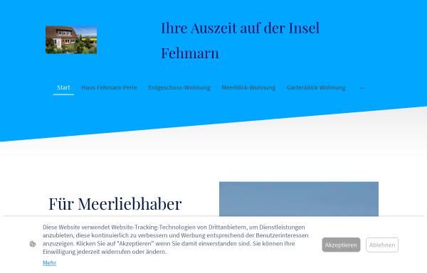 Vorschau von www.fehmarn-perle.de, Fehmarn-Perle