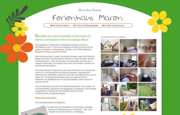 Vorschau von www.ferienhausmaren.de, Ferienhaus Maren, Familie Maren Wendel