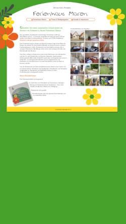 Vorschau der mobilen Webseite www.ferienhausmaren.de, Ferienhaus Maren, Familie Maren Wendel