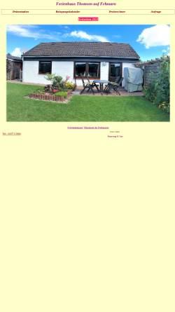 Vorschau der mobilen Webseite www.fehmarn-a.de, Ferienwohnungen Thomsen