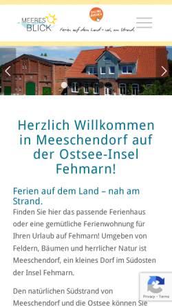 Vorschau der mobilen Webseite www.kleingarn-fehmarn.de, Georg & Svea Kleingarn