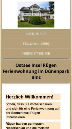 Vorschau der mobilen Webseite www.fehwo.de, Ostsee Insel Fehmarn Ferienwohnung am Südstrand