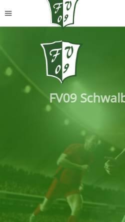 Vorschau der mobilen Webseite www.fv09schwalbach.de, Offizielle Homepage des FV 09 Schwalbach / Griesborn e.V.