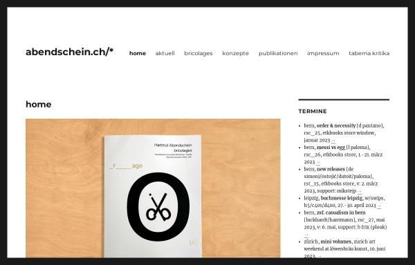 Vorschau von www.abendschein.ch, Hartmut Abendschein