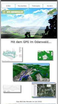 Vorschau der mobilen Webseite www.gps-odenwald.de, Odenwald