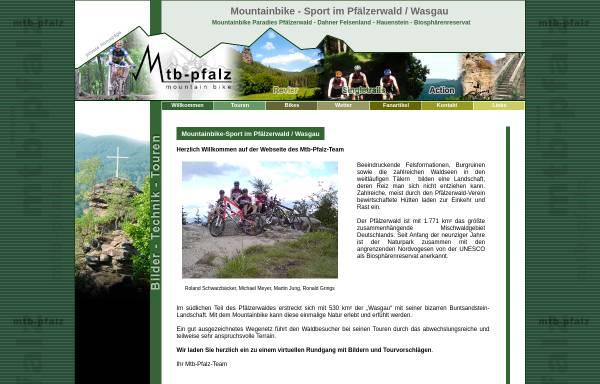 Vorschau von www.mtb-pfalz.de, Pfälzerwald