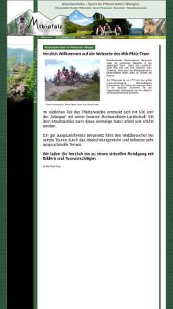 Vorschau der mobilen Webseite www.mtb-pfalz.de, Pfälzerwald