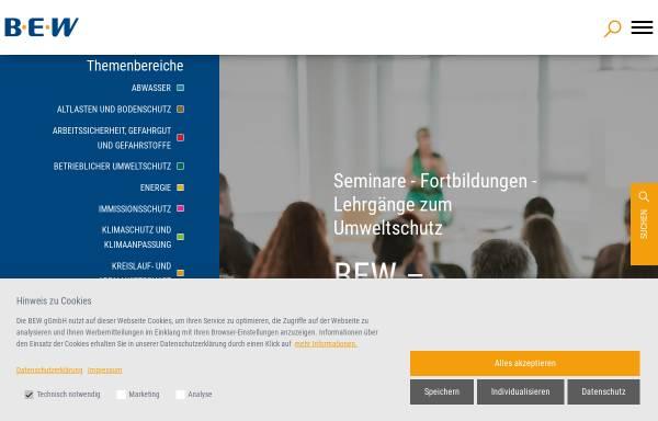 Vorschau von www.bew.de, Bildungszentrum für die Entsorgungs- und Wasserwirtschaft GmbH