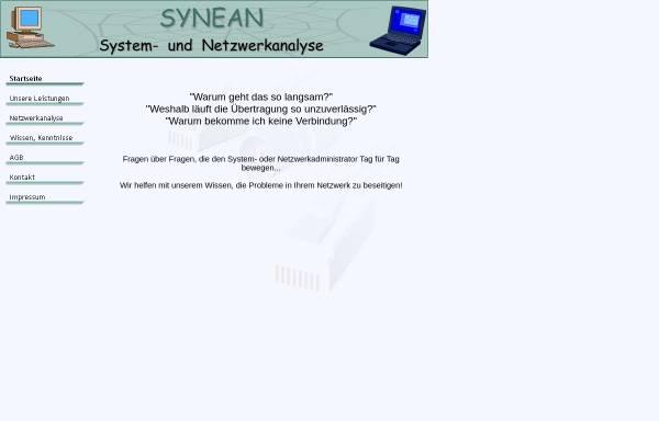 Vorschau von www.synean.de, System- und Netzwerkanalyse