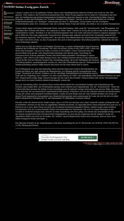 Vorschau der mobilen Webseite www.biwidus.ch, Stefan Zweig meets Zurich