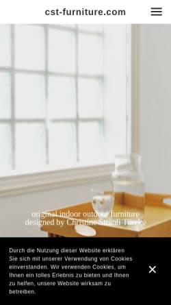 Vorschau der mobilen Webseite www.cst-furniture.com, Atelier Christine Sträuli-Türcké