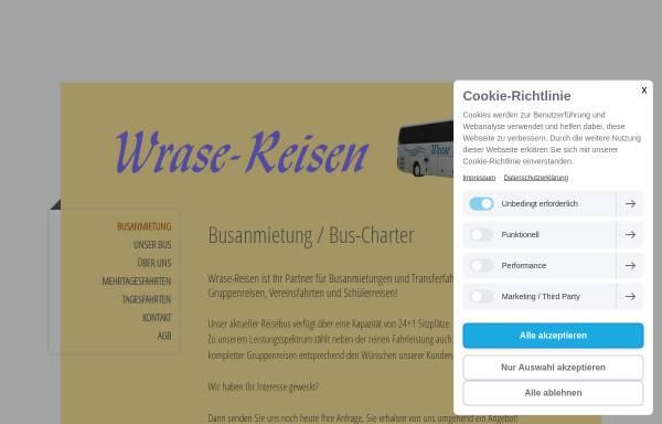 Vorschau von www.wrase-reisen.de, Wrase, Ulrich