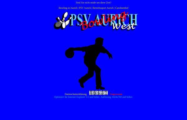 Vorschau von www.psvbowling.de, PSV Aurich Bowling und Betriebssport