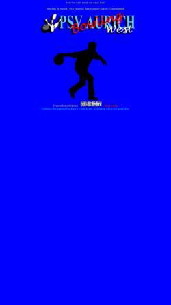 Vorschau der mobilen Webseite www.psvbowling.de, PSV Aurich Bowling und Betriebssport