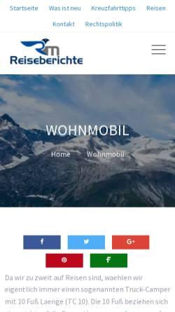 Vorschau der mobilen Webseite www.rm-reiseberichte.de, Alaska 2002 [Ralf Wandke]
