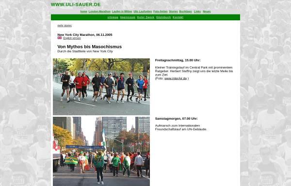 Vorschau von www.uli-sauer.de, New York Marathon [Uli Sauer]