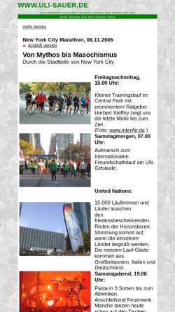 Vorschau der mobilen Webseite www.uli-sauer.de, New York Marathon [Uli Sauer]