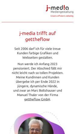 Vorschau der mobilen Webseite www.j-media.ch, j-media - Mediengestaltung