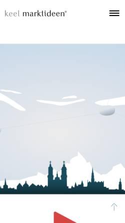 Vorschau der mobilen Webseite www.marktideen.ch, Keel Marktideen