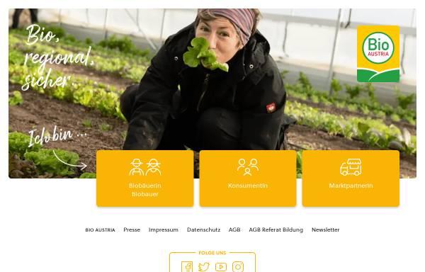 Vorschau von www.bio-austria.at, Bio Austria
