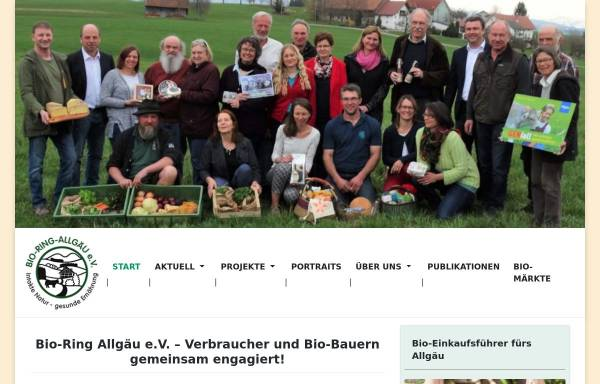 Vorschau von www.bioring-allgaeu.de, Bio-Ring Allgäu e.V.