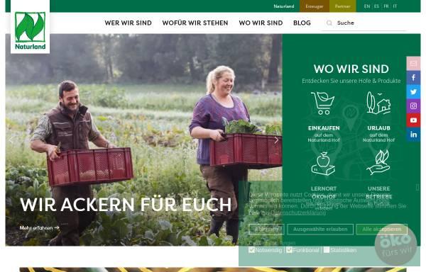 Vorschau von www.naturland.de, Naturland - Verband für ökologischen Landbau e.V.