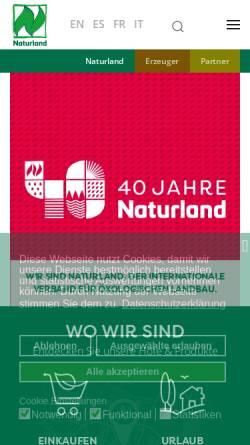 Vorschau der mobilen Webseite www.naturland.de, Naturland - Verband für ökologischen Landbau e.V.