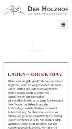 Vorschau der mobilen Webseite www.der-holzhof.de, Der Holzhof - Kunze & Partner KG