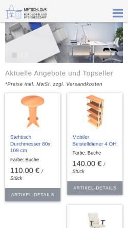 Vorschau der mobilen Webseite www.wendl-bueromoebel.de, Wendl Büromöbel, Inh. Werner Wendl