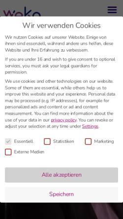 Vorschau der mobilen Webseite www.weko.de, Weko Informatik GmbH