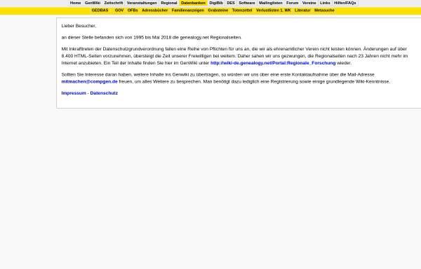 Vorschau von www.genealogy.net, Geschichte Sachsen-Anhalts
