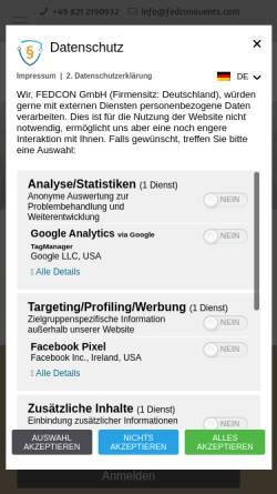 Vorschau der mobilen Webseite www.ringcon.de, Ring*Con