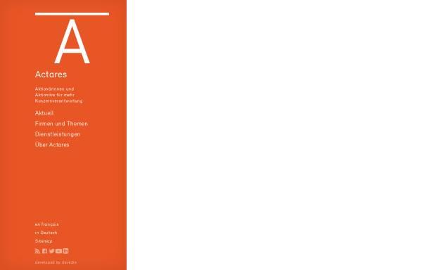 Vorschau von www.actares.ch, Actares