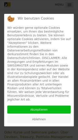 Vorschau der mobilen Webseite www.derkursstimmt.ch, AMS SwissMaster - Jürg Bosshart